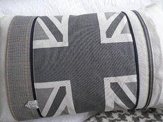 hand printed classic greys union jack flag by helkatdesign