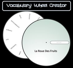 Vocabulary Wheel Creator | Simply enter text to create you vocabulary wheels!