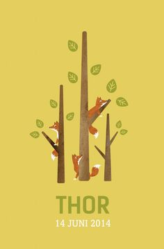 'Thor' Birth Card / Baby Card / Geboortekaart, by www.eduardplancke.be