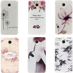 Soft Silicone phone Protective Case for Meizu Meilan Max  / M3 Max TPU Back cover Eiffel Tower Lotus Flower Bird Dandelion