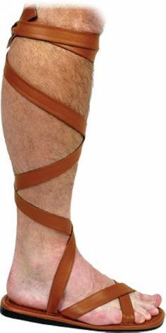 90ead86b01bf6b Roman Sandal Shoes Adult - Men Roman Costumes
