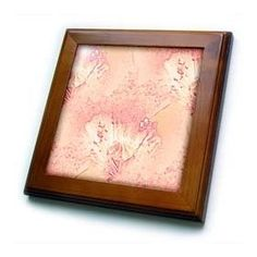 """Patricia Sanders Creations - Peach Poppy Floral Art - Framed Tiles :           Peach Poppy Floral Art Framed Tile is 8"""" x 8"""" with a 6"""" x 6"""" high gloss inset ceramic tile, surrounded by a solid wood frame with predrilled keyhole for easy wall mounting.                           **Read more Details : http://gethotprice.com/appin/?t=B005FWGP52"""