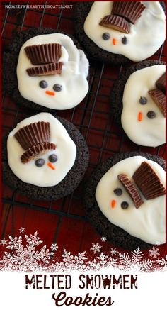 Melted Snowmen Cookies #christmas #cookie