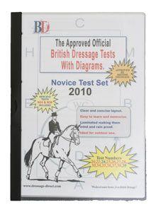 British Dressage Test Sheets Novice