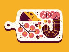 Lunch designed by Jordon Cheung. Connect with them on Dribbble; Flat Illustration, Food Illustrations, Graphic Design Illustration, Folded Book Art, Food Drawing, Logo Food, Typography Prints, Food Art, Vector Art