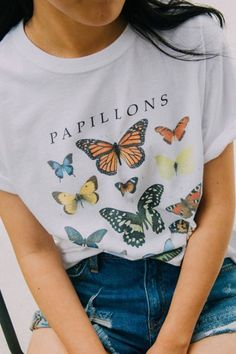 Check out Butterfly Crew-Neck Tee from Urban Outfitters 848013804820235236
