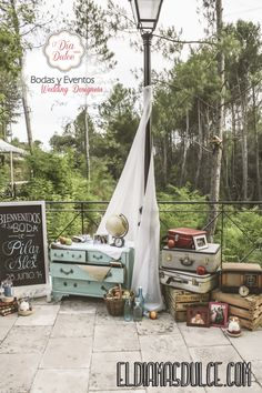 Pilar y Alex Ideas Para, Ideas Decoración, Decor Ideas, Welcome To Our Wedding, Travel Themes, Rustic Style, Hanging Chair, Bridal Shower, Wedding Day