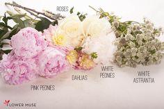 Light Pink & Cream DIY Centerpiece - Ingredients