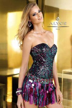 Alyce Short Dress 2224 at Prom Dress Shop