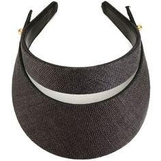 Super Duper Hats Visor Hat (24595 ALL) ❤ liked on Polyvore featuring accessories, hats, black, sun visor hat, visor hats and sun visor