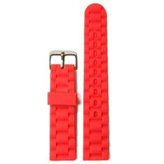 WWWB20520mm Natural Red Nice Silicone Jelly Rubber Ladies Watch Band Straps *** Check out this great product.(This is an Amazon affiliate link)
