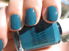 Best blue ever - Echo from Obsessive Compulsive Cosmetics. We're down with OCC! Glitter Nail Polish, Gel Nails, Love Nails, Pretty Nails, Seasonal Nails, Obsessive Compulsive Cosmetics, Nail Polish Collection, Short Nails, Natural Nails