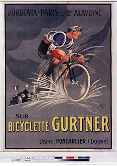 Bordeaux-Paris 2nd Alavoine on bicycle Gurtner