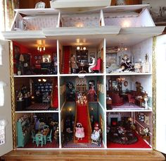 "Pic 2 of 2 ~ Large OOAK 1:12 Scale Len Lewis Dolls House ""Tattershall Manor"", on eBay"