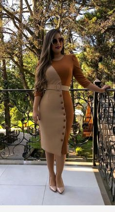 Related posts:Acrylic nails are hereI like the red topOlive shirt and long black skirt Classy Work Outfits, Classy Dress, Chic Outfits, Dress Outfits, Fashion Outfits, Posh Dresses, Simple Dresses, Elegant Dresses, Dresses For Work