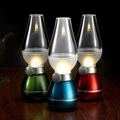 Hurricane LED Blow Lamp Adjustable Dim Nightlight Home Camping Emergency Light
