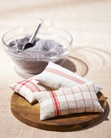 Upcycled Old Linen Sachets - What a great way to use those older dish towels that need to be retired.  No sewing machine?  No problem, these can be done with a few hand stitches.  My drawers and linen closet need these as we end a long winter.  Just click the pic for Martha's instructions.