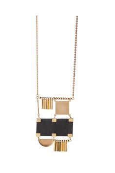 SALE: Black Squaredancer Necklace (reversible)