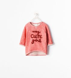 Image 1 of EMBROIDERED TEXT SWEATSHIRT from Zara