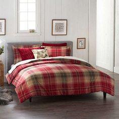 izod buffalo plaid sherpa comforter 3 piece setizod | plaid