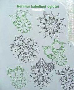 "Photo from album ""Снежинки"" on Yandex.Disk - Her Crochet Crochet Snowflake Pattern, Crochet Motif Patterns, Christmas Crochet Patterns, Crochet Snowflakes, Crochet Angels, Crochet Stars, Crochet Flowers, Crochet Doilies, Hdc Crochet"