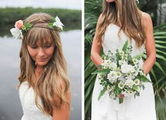 Natural Wedding, wedding headband Harriet's flowers-Ruskin, fl