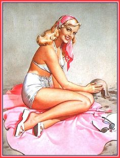 Vintage pinup girl by Pearl Frush.