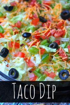 THE BEST DIP EVER! Ready in 5 minutes and can be made the day before a party - Taco Dip Recipe - everyone will love this recipe - my family ate it all
