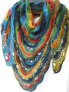 Free crochet shawl pattern on Ravelry Poncho Crochet, Crochet Shawls And Wraps, Knit Or Crochet, Crochet Scarves, Crochet Crafts, Crochet Clothes, Crochet Stitches, Crochet Projects, Poncho Shawl