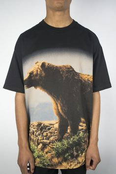 Diamond Grizzly Griptape Mountain Bear Tee in Black