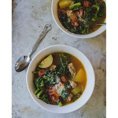 Just a reminder that this Spicy Sausage Soup with Kale is up on the blog. And, holy heck is it good!!! Link to the blog in profile. #soupergood #soupFTW #soupitrealgood