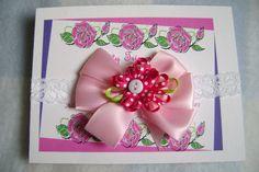 Pink Polka Dot Flower Boutique Infant Bow by TurtlestonesBoutique, $3.50