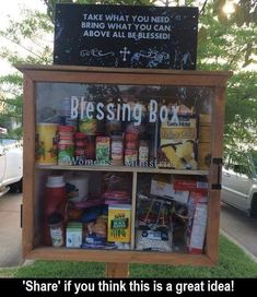 Anyone hear of a Blessing Box? Great idea!   charity. Ideas