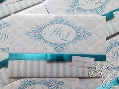 Convite Casamento - Alveny e Lourisval   New Charm Convites   Elo7