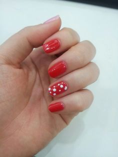 #도트네일#red#gel nail#Dot