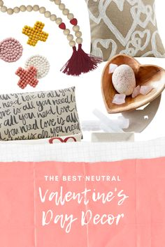 I love finding Home Decor for Valentine's Day, here are some neutral decor pieces to decorate for the holiday.