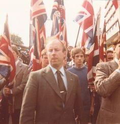 Caught by surprise! John Tyndall, Anti IRA march, 1979.