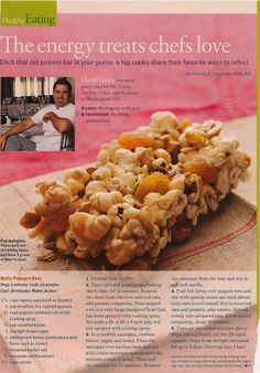 Nutty Popcorn Bars from Health June 2007