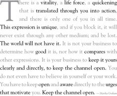 Martha Graham quote