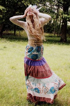 patterns and fabrics combined into one amazing skirt