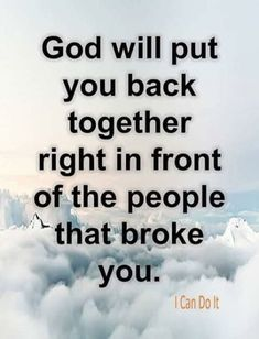 encouragement quotes Be patient, God will restore everything and heal your soul. You will come out different and people will notice. Never give up. Prayer Quotes, Bible Verses Quotes, Wisdom Quotes, True Quotes, Words Quotes, Best Quotes, Motivational Quotes, Encouragement Quotes, Quotes Quotes