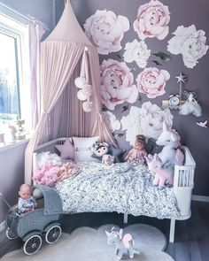 27 Small Bedroom Design Ideas For your Apartment ~ Gorgeous House Baby Bedroom, Baby Room Decor, Nursery Room, Kids Bedroom, Room Baby, Dream Bedroom, Small Girls Bedrooms, Little Girl Rooms, Small Bedroom Designs
