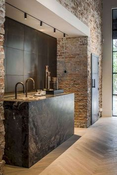 55 Marvelous Industrial Kitchen Style Ideas - Page 30 of 57 Industrial Kitchen Design, Vintage Industrial Decor, Industrial House, Industrial Interiors, Kitchen Interior, Rustic Industrial Kitchens, Design Kitchen, Kitchen Rustic, Modern Interiors