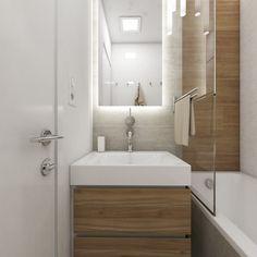 Minimalist Bathroom, Bathroom Design Small, Small Apartments, Bathroom Inspiration, Home Deco, Bathtub, House Design, Shower, Decoration