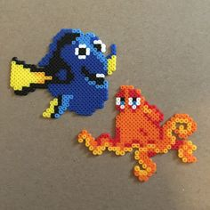 Finding Dory Mini Perler Beads