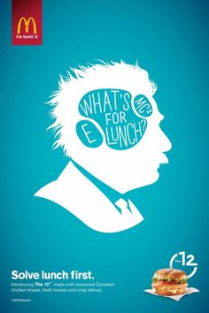「生きるべきか…ランチ何食べよう?…死ぬべきか」偉人の名言を巧みに使ったプリント広告 | AdGang