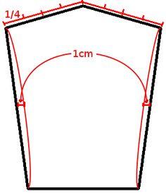 Um einen Ärmel zu konstruieren müsst ihr den Armlochumfang von Schnitt des Vorderteils sowie des Rückteils messen und addieren. Das ist...