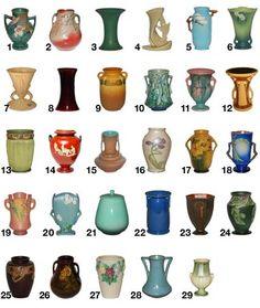Roseville Pottery Patterns,  M-R