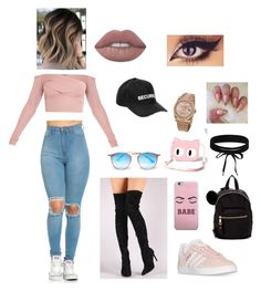 """Cool fashion babe"" by sarah14san on Polyvore featuring moda, adidas, Liliana, Vetements, Ray-Ban, Madden Girl, Banned, Boohoo y Rolex"