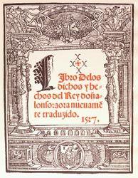 Antonio PANORMITANO (Autor) Juan de MOLINA (Traductor) Juan Joffre (Impresor) Procedencia: Valencia, s. XVI Biblioteca de Manuel Bas Carbonell.